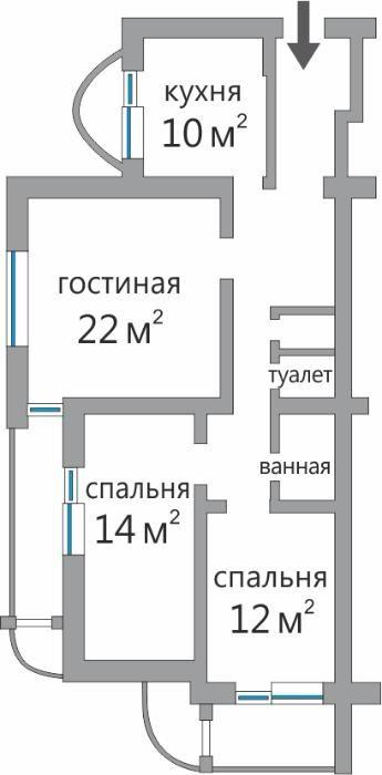 Фото 5 - Продам квартиру Киев, Панаса Мирного ул.
