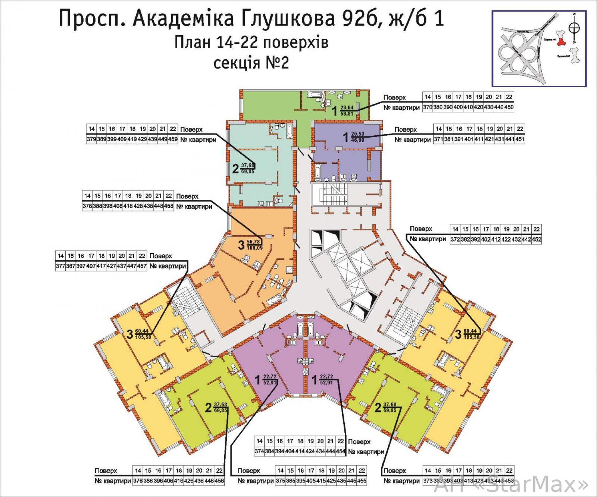 Продам квартиру Киев, Глушкова Академика пр-т 3