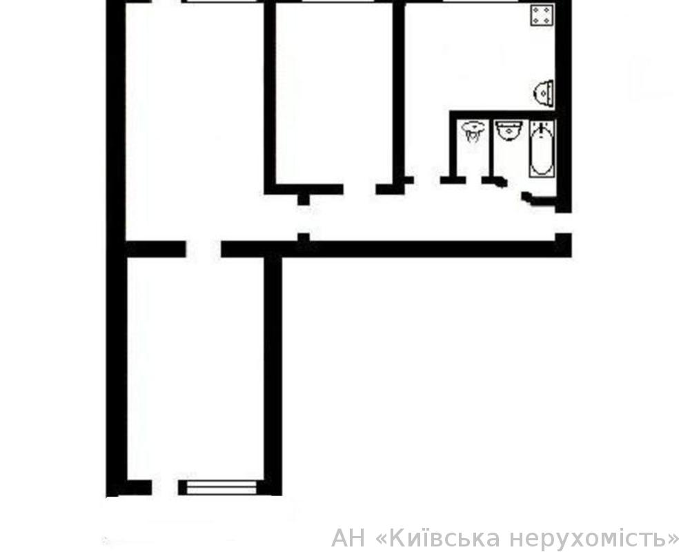 Трехкомнатная квартира на березняках, киев, 44990 у.е..