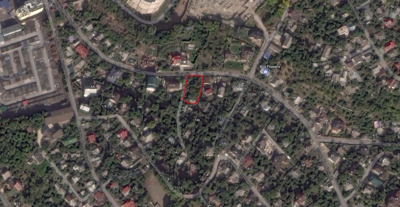 Продам участок под застройку жилой недвижимости Киев, Цимбалов Яр ул. 2