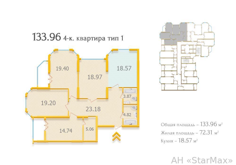 Продам квартиру Киев, Евгения Коновальца ул. 4