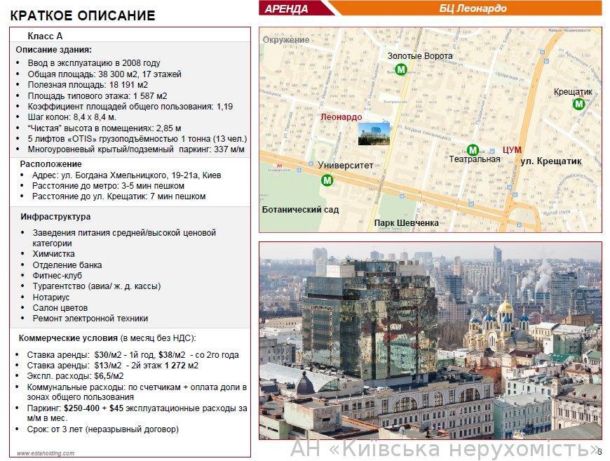 Сдам офис в офисном центре Киев, Хмельницкого Богдана ул. 4