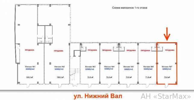 Продам торговое помещение Киев, Нижний Вал ул. 4
