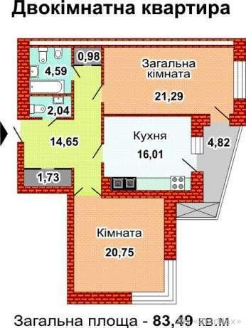 Продам квартиру Киев, Ушинского ул. 4