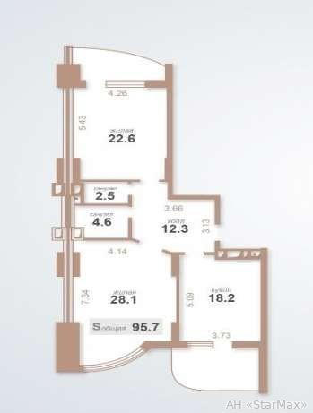 Продам квартиру Киев, Запорожца Петра ул. 3