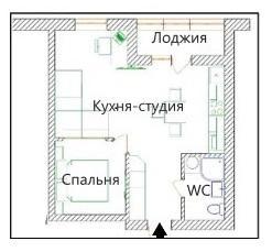 Продам 1-к. квартиру-студию с отдельной спальней в ЖК Мира 1. 2